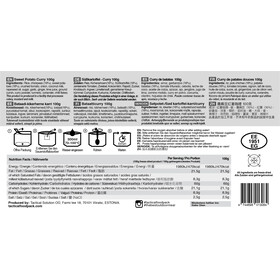 Tactical Foodpack Freeze Dried Meal 100g, Sweet Potato Curry
